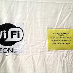 Affiche sur tente WIFI