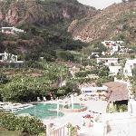 Vista verso l'isola dall'hotel