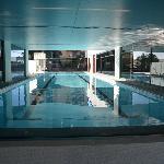Half indoor / half outdoor pool