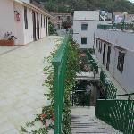 Terrazzo corridoio delle camere