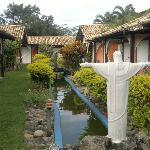 Jardim da pousada El Riconcito