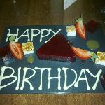 A special birthday wish from the restaurant