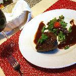 Steak at Oopen restaurant