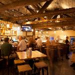cornerstone's cozy bar interior