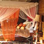 Our bed in Calabash Treehouse