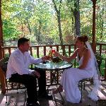 Hocking Hills Chapel accomodates any wedding party from couples only to large groups of 200 or m