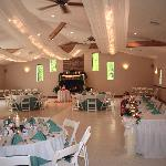 Our reception hall can accomodate 200 guests for wedding receptions and other functions.