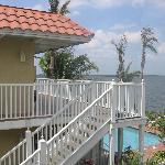 Upstairs balcony at bayside villa north