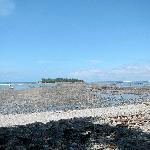 The sea parts at high tide