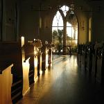 Inside the Chapel at sunrise