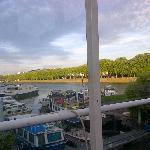 Vue vers la Seine depuis la table