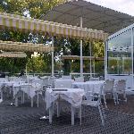 Vue de la terrasse depuis la table