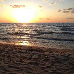 Typical sunset from nearby beach