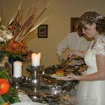 Catered events include wedding receptions.