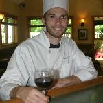 Sous Chef Dave Putman welcomes diners.