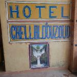 the sign in front of the hotel
