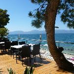 Restaurant Alfresco dining option overlooking beach.