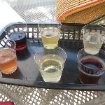 The wine sampler @ Kelle's Island Wine Co