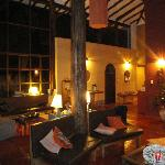the lovely living/dining area at night/magical!!