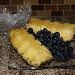 pineapples and blueberries