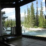 View from the bed, Temple Cabin