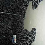 Spa shower wall