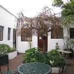 Courtyard outside cottage
