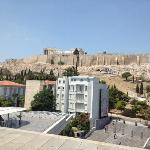 Acropolis view from museum