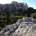Acropolis from ancient agora