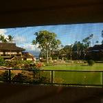 vista dalla camera sul giardino interno del resort