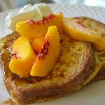 Gluten-Free French Toast and Peaches