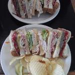 Dagwood Sandwich on two plates