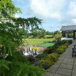 View of b&b garden area giant chess board etc