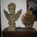 Authentic Balinese decorations in the main house