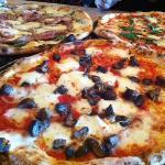 Roasted mushroom and onion pizza!