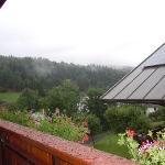 panorama piovigginoso dal balcone