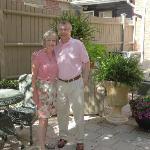 The delightful hosts - Judy & Ed