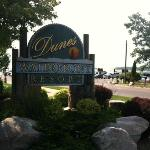 Dunes Waterfront sign