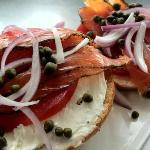Bagel with House Cured Salmon