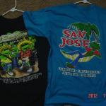 Great Tee Shirts from San Jose'(black-2010/blue-2012)