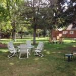 Court Yard of Cottages 1-10.  Picnic tables, gas grills, chairs