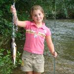 The creek is stocked with trout