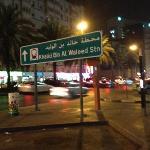 Hotel located near Khalid Bin Al Waleed MRT Station (5-10 minutes walk away)
