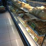 Pastries inside the supermarket next door to the hotel