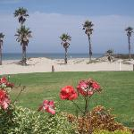 Blick vom Hotel zum Strand
