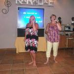 Me and my sister Julie killing the karaoke!