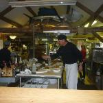 Chef Martin in his open kitchen
