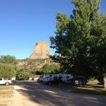 campground and tower