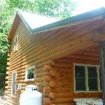 Outside of cabin #4