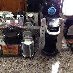 Mini Keurig and bottled water